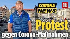 Verrückter Protest gegen Corona-Maßnahmen – mit Stühlen!