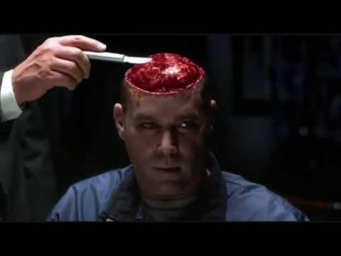Hannibal Lecter feeds Krendler his last meal