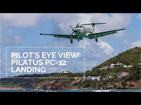 PILOT'S EYE VIEW: Approach And Landing In The PC-12!