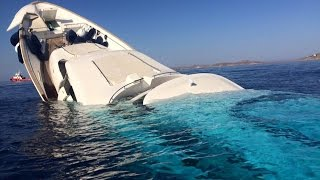 Luxury superyacht $6m sinking off Greek island of Mykonos