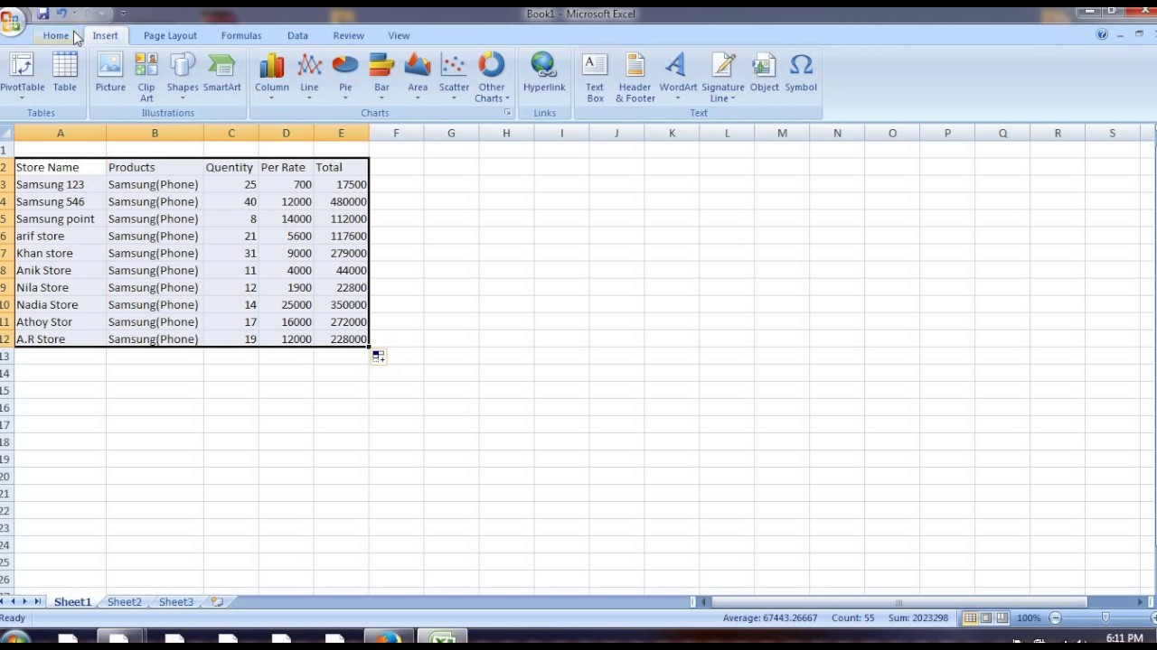 Daily Sales Report In Excel Sheet Youtube