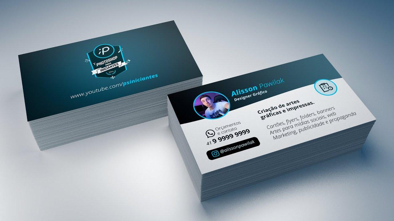 · start the design process with a business card template. Como Usar Mockup Em Seu Cartao De Visita No Photoshop Youtube