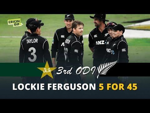 Pakistan vs New Zealand 3rd ODI: Lockie Ferguson's FIVE wickets