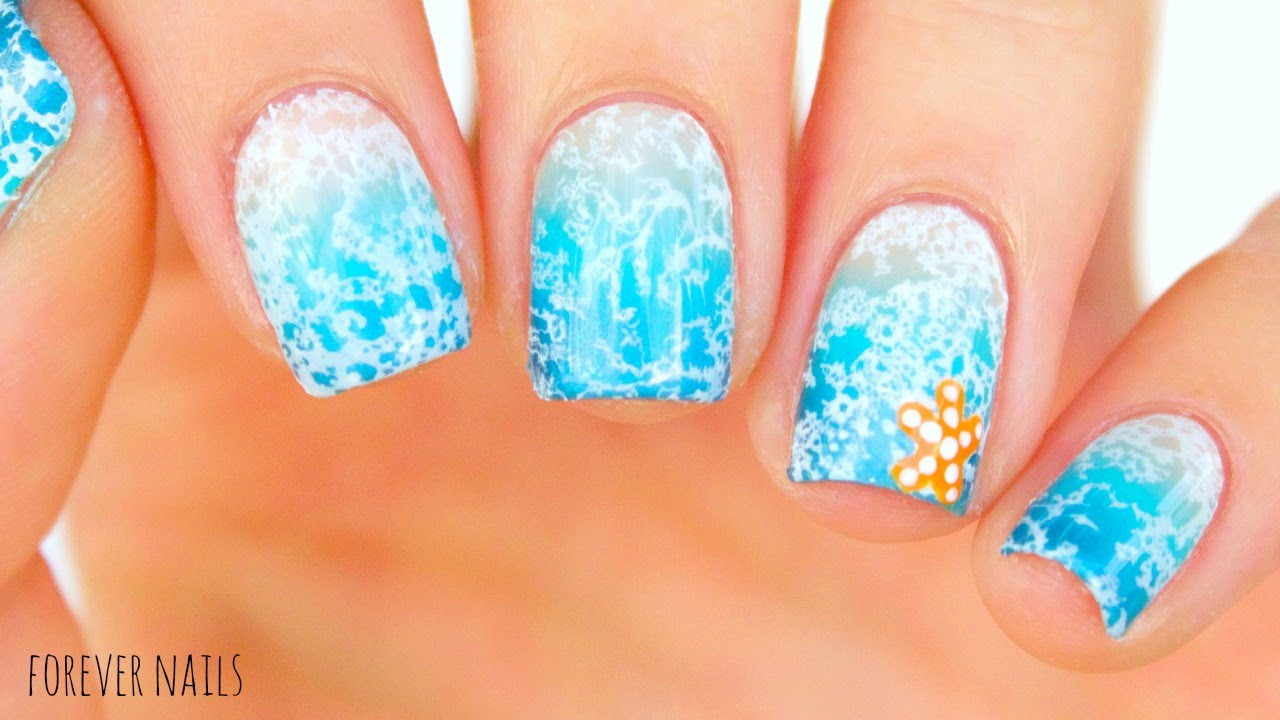 SUMMER BEACH NAILS - YouTube