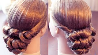 Вечерняя причёска с резинками - Элементарно!(, 2015-02-06T11:39:20.000Z)