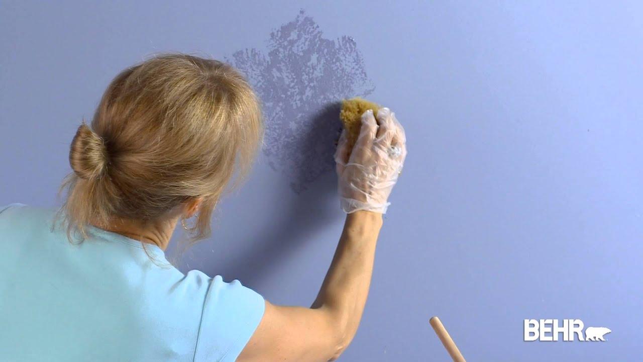 Pintura behr t cnica de poner con esponja acabado faux - Formas de pintar paredes con esponja ...