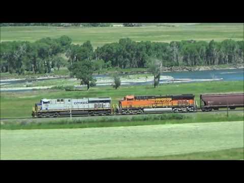 Railfanning in Wyoming, Montana, North Platte, Nebraska and Waterloo, Indiana