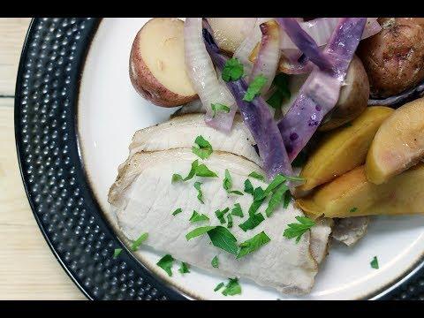 Slow Cooker Apple & Onion Pork Loin Roast