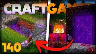 PASSAGEM SECRETA para o NETHER!  - Craft Games 140