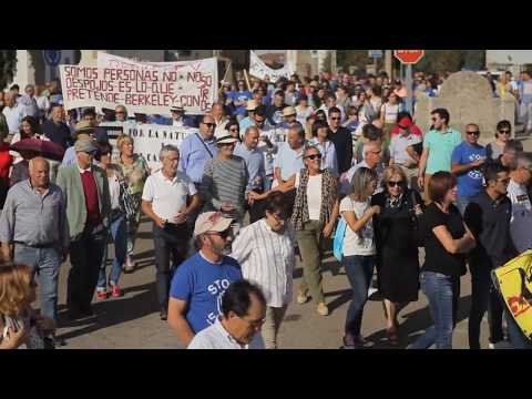 Massive protest against Salamanca Project Berkeley Minera Villavieja de Yeltes 30-9-2017