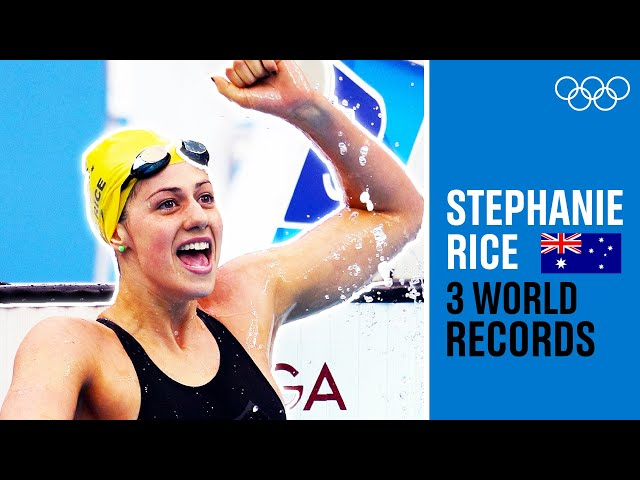 The 1st woman to beat 4:30! Stephanie Rice's insane 3(!) World Records