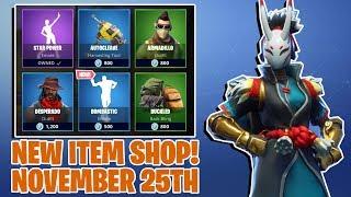FORTNITE NEW ITEM SHOP! - November 25th - NEW SKINS! (Fortnite Battle Royale)