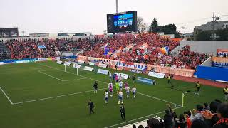 2019 J2 第4節 横浜FC 対 アルビレックス新潟 試合終了後。 2-1で新潟が...