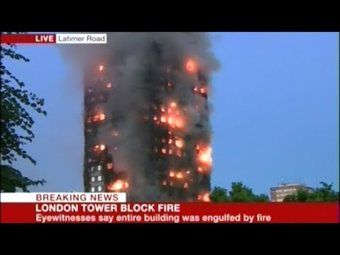 News Live Broadcast Horrific London Apartment Fire As It Burns Out Of Control!