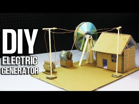How to Make Electric Generator power up cardboard house YouTube
