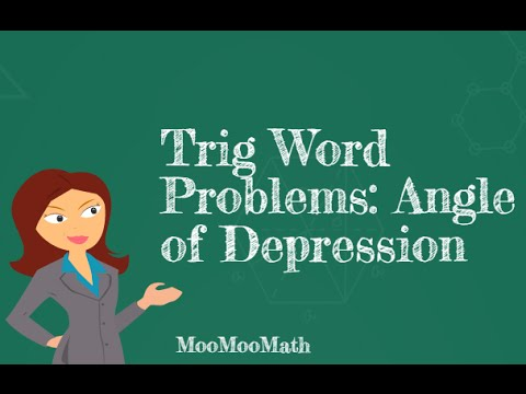 Trig Word Problems- Angle of Depression Problem - YouTube