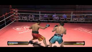 Manny Pacquiao Vs Ricky Hatton - Fight Night Round 3 Gameplay PC (HD)