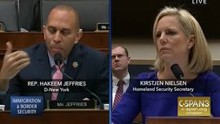 Rep. Jeffries Questions DHS Secretary Nielsen About Border Wall & Children at the Border