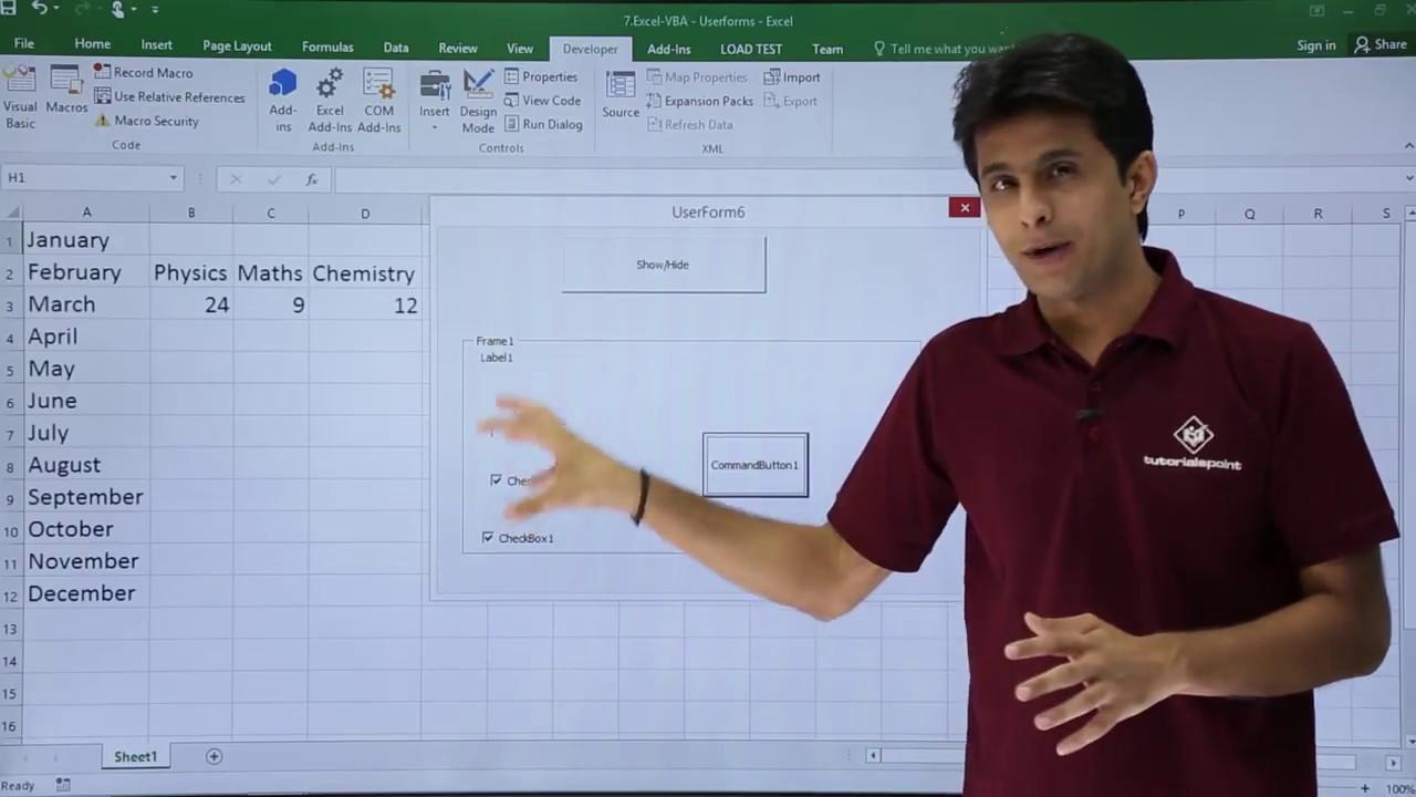 Excel VBA - Frames