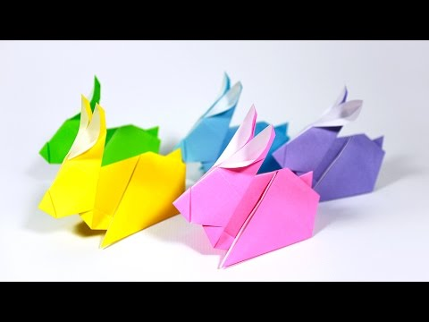 how to fold easy origami easter bunny rabbit �����������������
