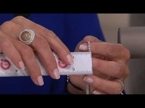 Princess Cut Diamond Tennis Bracelet 18K, by Affinity on QVC