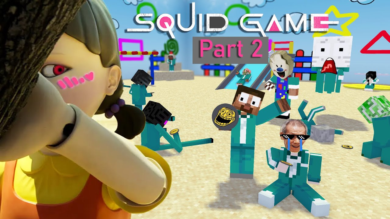 Download SQUID GAME Part 2   HoneyComb Challenge & Red light   Funny Minecraft Animation