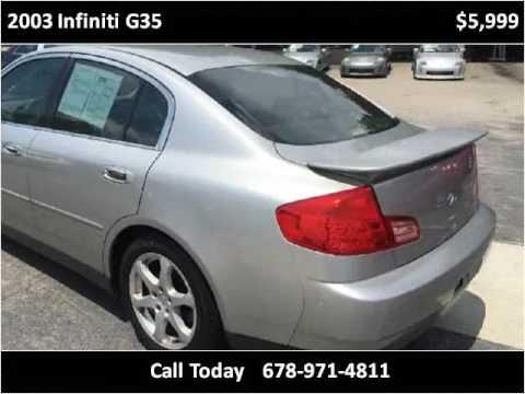 2003 infiniti g35 used cars gainesville ga youtube for Infinity motors gainesville ga