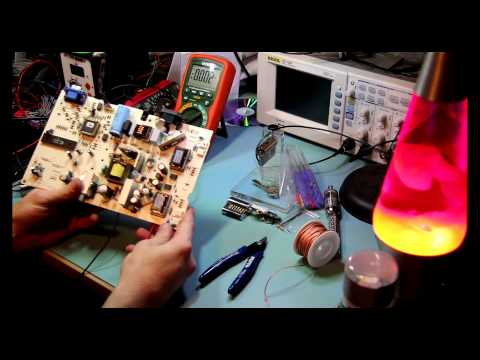 Converting a mains powered TFT to run on 12v