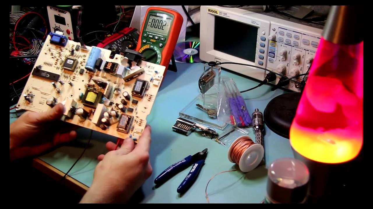 Converting A Mains Powered Tft To Run On 12v Youtube Dell Gx620 Computer With Myself Electronic Projects Circuits