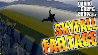 Grand Theft Auto 5 - Funny Skyfall Failtage (Flying fail Montage)