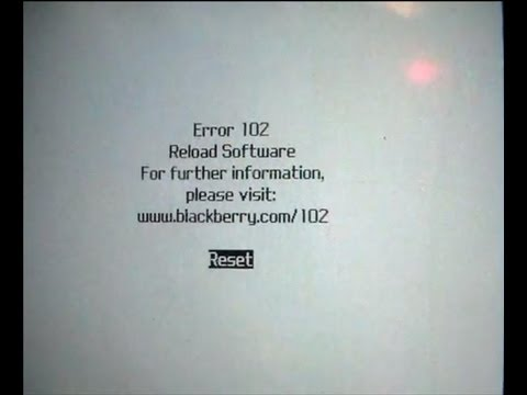 How To Fix A Blackberry With A Error 102 White Screen