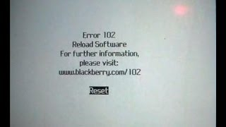 Repeat youtube video How To Fix A Blackberry With A Error 102 White Screen