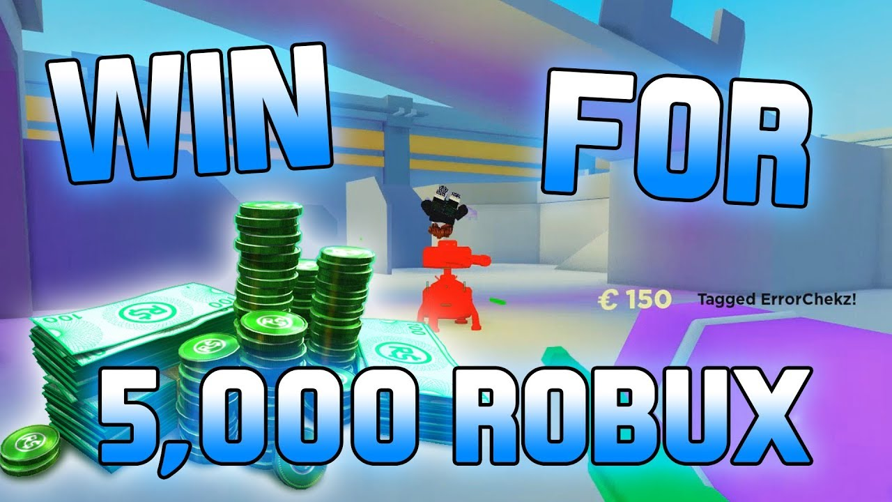win  match   robux big paintball roblox