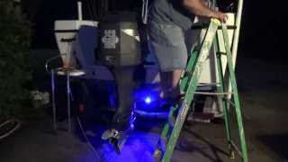 HowTo: Install Drain Plug Underwater LED Lights On Your Boat Transom