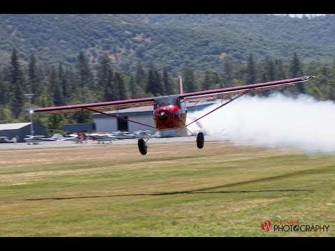 Kitfox Low Approach at the Luscombe Fly-in Columbia - SMOKE ON!