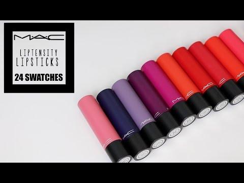 NEW MAC Liptensity Lipsticks | 24  Lip Swatches