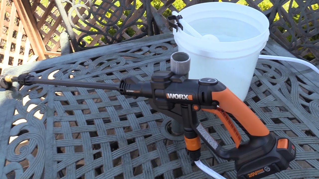 Image result for Worx hydroshot portable power washer