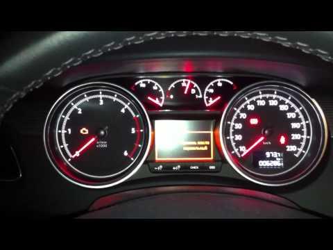 Peugeot 508 2.0 HDI FAP cold start -20C