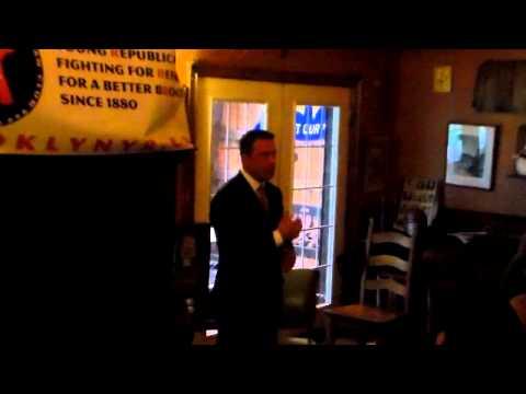 Brooklyn Young Republican Club Welcomes Congressman Michael Grimm - Pt. 1