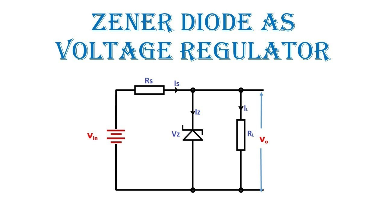 zener diode as voltage regulator in hindi