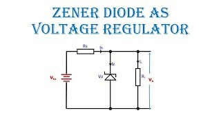 zener diode as voltage  regulator in hindi