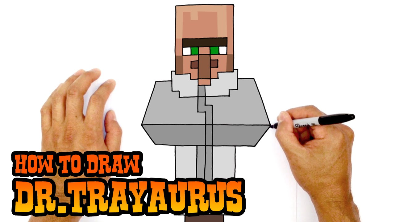 How To Draw Drayaurus  The Diamond Minecart
