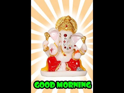 New Whatsapp Video, Good Morning (shree Ganesha )|  Ganesha Animated Gif Image