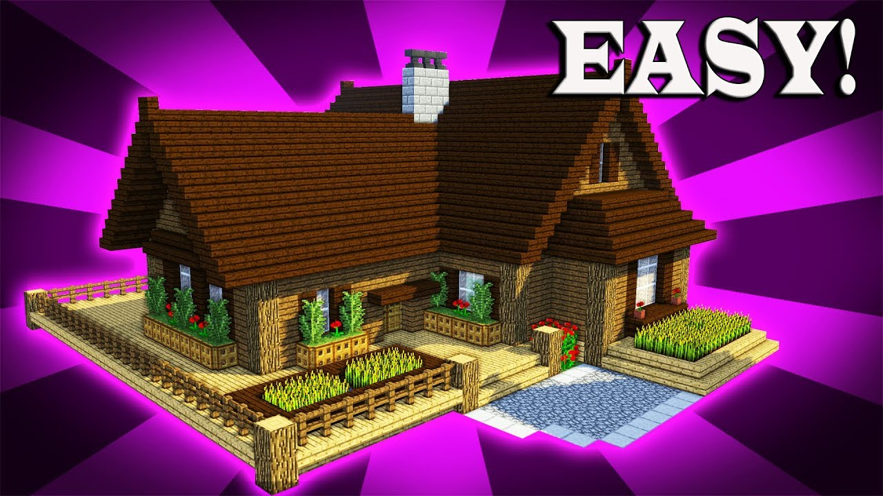 How To Build A Epic Wooden House In Minecraft 2 Youtube