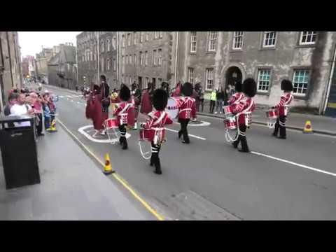Scots Guards Parade Edinburgh's Royal Mile With Scottish Crown 3 Of 4 [4K/UHD]