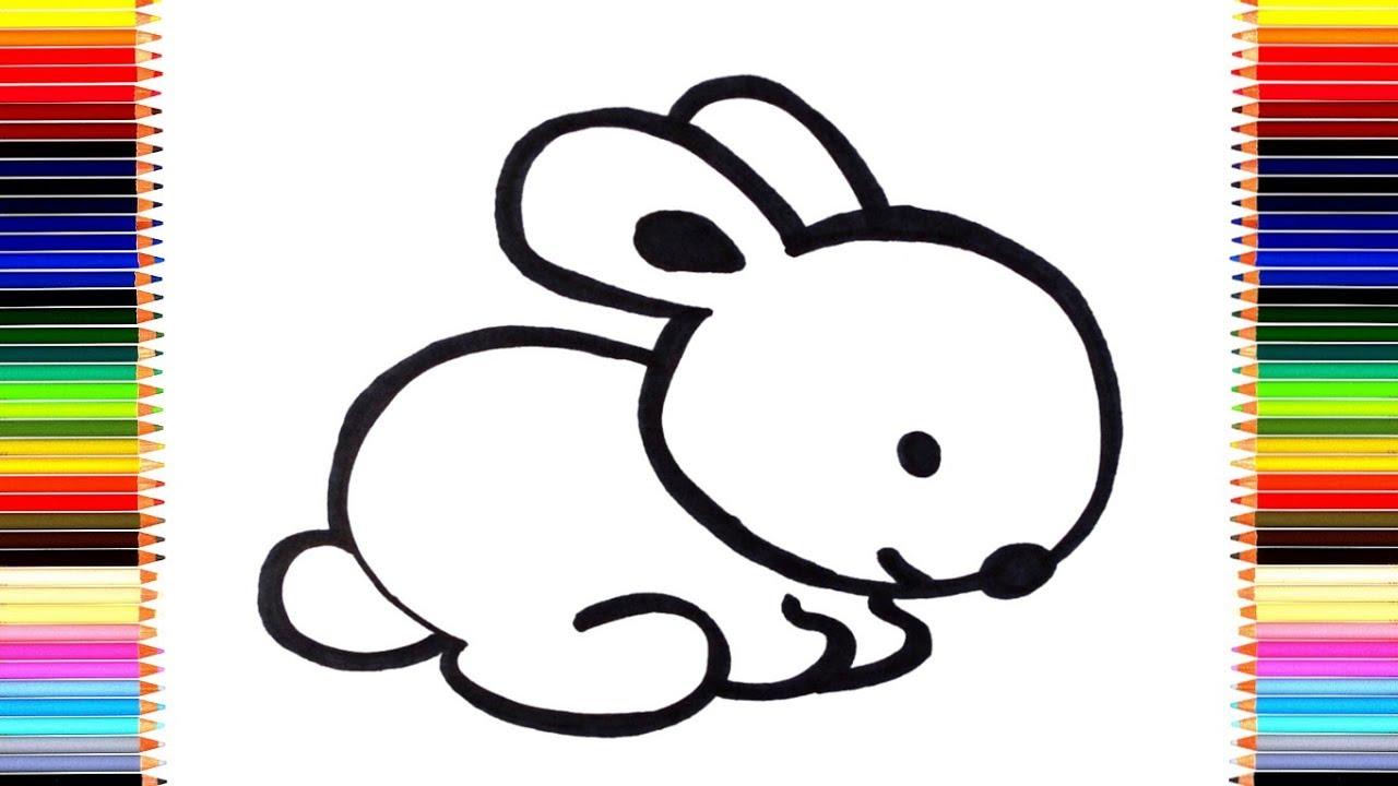 как легко нарисовать зайчика мультик раскраска зайчик для детей раскраски малышам