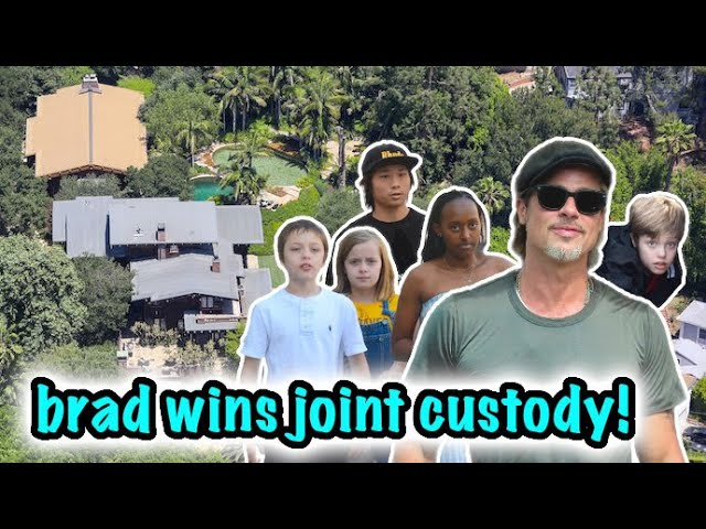 Brad Pitt Welcomes His Children Into His Home After Winning Joint Custody