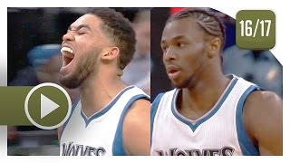 Karl-Anthony Towns & Andrew Wiggins Full Highlights vs Trail Blazers (2017.04.03) - CLUTCH!