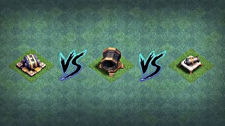 GIANT CANNON VS DOUBLE CANNON VS CANNON | POWER OF CANNONS | CLASH OF CLANS