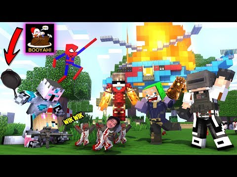 BOYAH ! BOCIL Thanos VS NENEK GRANNY DI FREE FIRE - Minecraft Animation Indonesia
